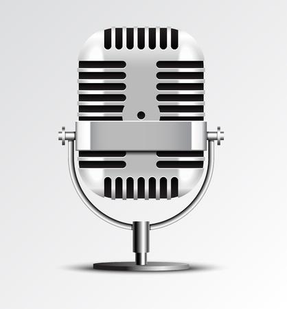 Retro microphone vector illustration. Stock Vector - 19052504