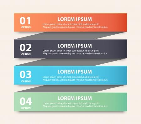 Modern spiral infographics options banner.  向量圖像