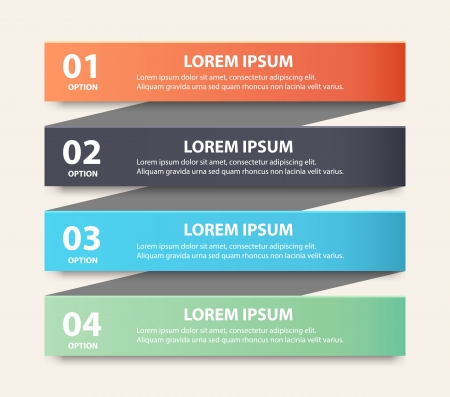 Modern spiral infographics options banner.  Illustration