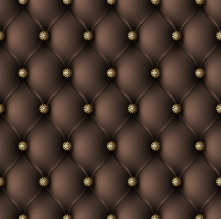 Brown upholstery seamless pattern Vector