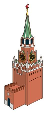 palacio ruso: ilustración de la torre Spasskaya