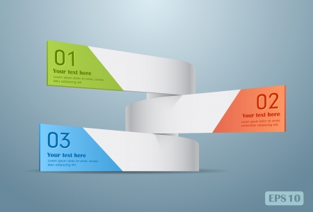 Modern spiral infographics options banners.