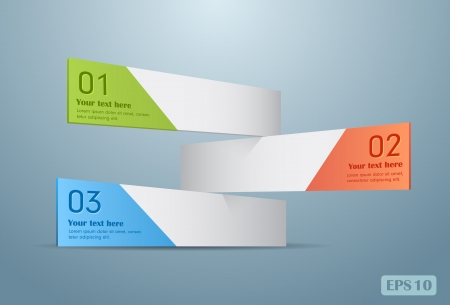 Modern infographics options banners  Vector illustration Stock Vector - 21138886