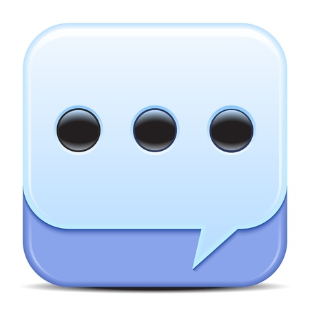 Blue Speech Bubbles Icon  Vector illustration