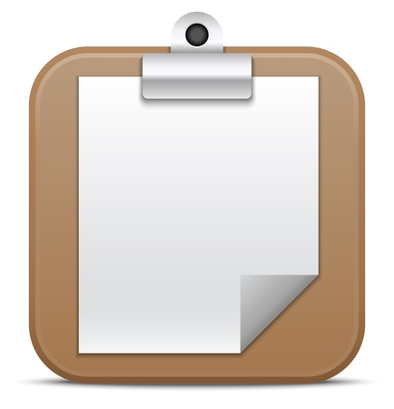 Clipboard icon  Vector illustration
