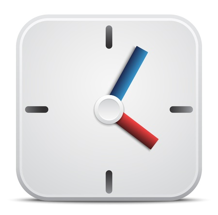 Vector clock icon Stock Vector - 21139327