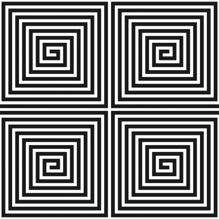 Spiral square texture. Seamless geometric pattern. Vector illustration.