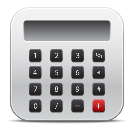 Vector calculator icon Stock Vector - 21571966