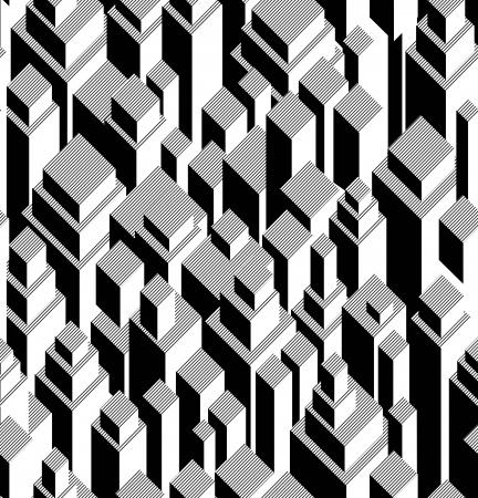 modular: Vector seamless geometric pattern