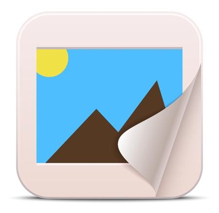 Vector photo album icon 向量圖像