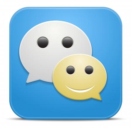 Smile talking bubble. Vector forun icon Stock Vector - 21572117
