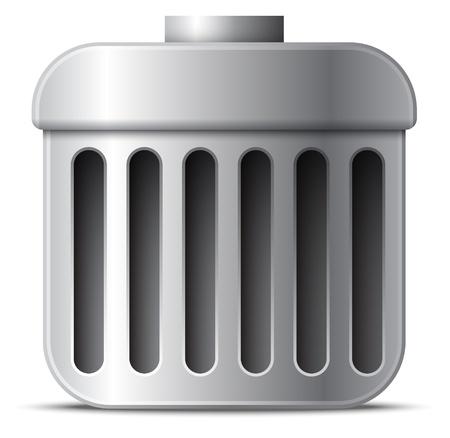 scrapyard: Vector trash can icon