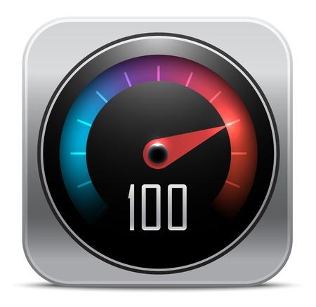 compteur de vitesse: Compteur de vitesse ic?ne. Vector illustration Illustration