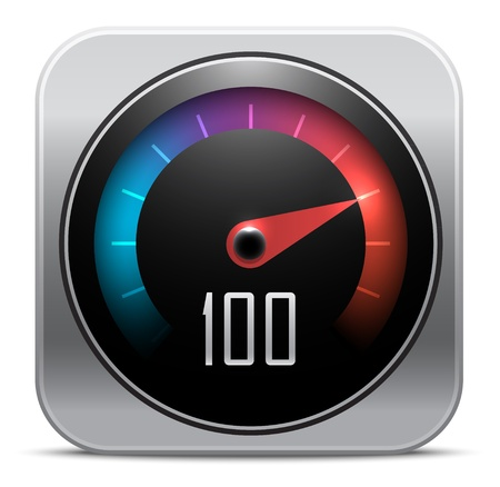 Speedometer icon. Vector illustration