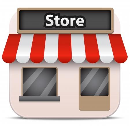 outdoor goods: Vector store icon