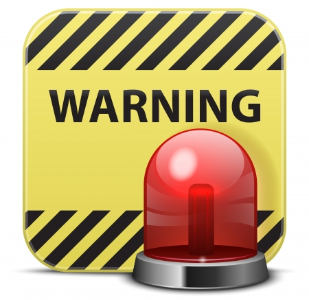 emergency light: Vector warning icon Illustration