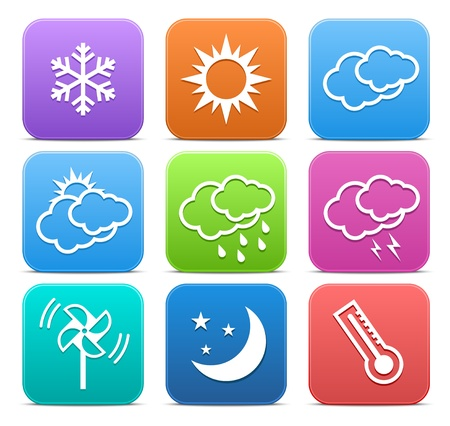 Weather icon set. Vector illustration
