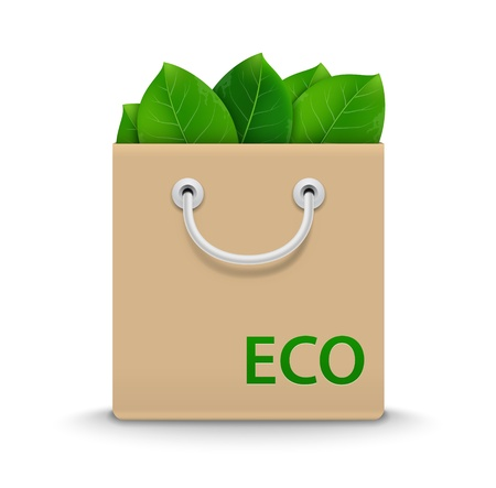 Eco Shopping Bag. Vector Illustration