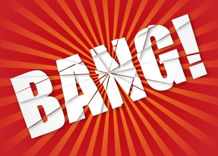 Bang - Explosion. Vector Illustration Illustration