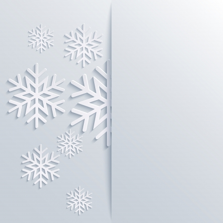 illustration abstract Christmas Background with snowflakes Illustration
