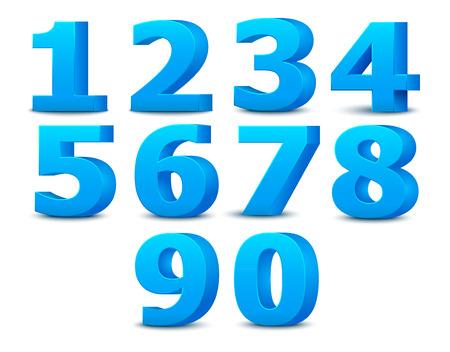 3D alphabet numbers.  向量圖像
