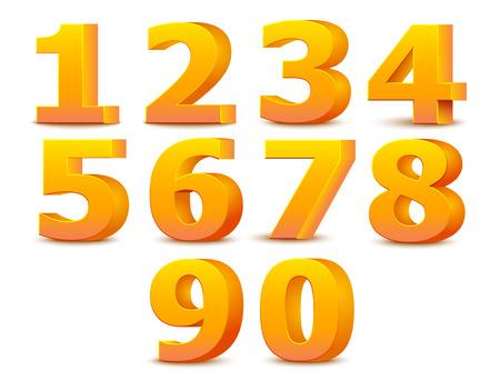 Alphabet numbers.  向量圖像