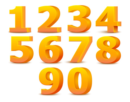 Alphabet numbers.  Illustration