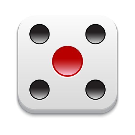 Games icon.  Illustration