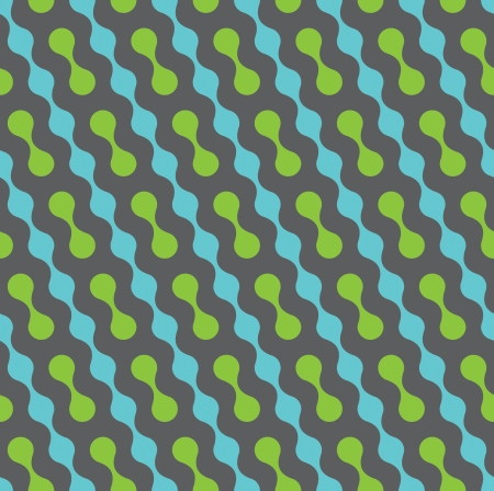 Seamless vector geometric pattern. Diagonal wavy dots Illustration