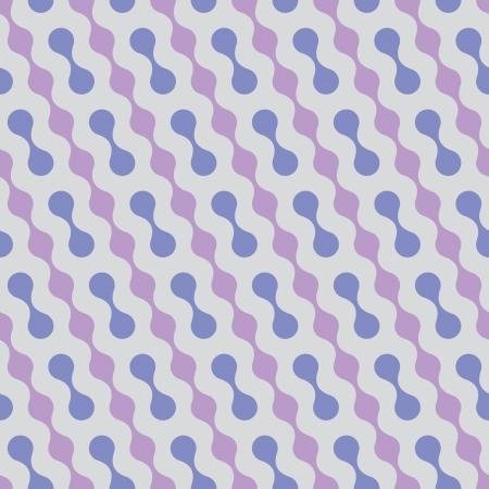 Seamless vector geometric pattern. Diagonal wavy dots.
