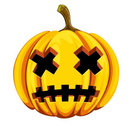 Pumpkin for Halloween  Vector illustration Illustration
