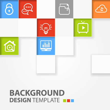 Squares background  Vector template for interface or infographic