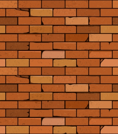 Vector red brick wall seamless background