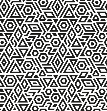 Seamless geometric vector pattern background Illustration