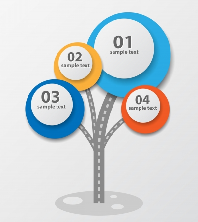 Infographic template design with tree. Vector Illustration. Illustration