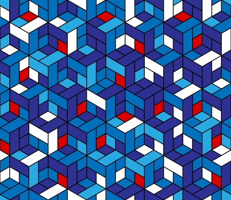 Seamless geometric pattern with cubes. Can be used in textiles, for book design, website background.
