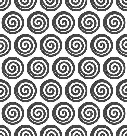 Abstract spiral vector seamless background. Vector illustration