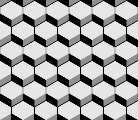 Hexagon pattern texture. Vector illustration