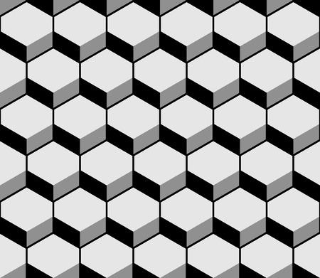 Hexagon pattern texture. Vector illustration