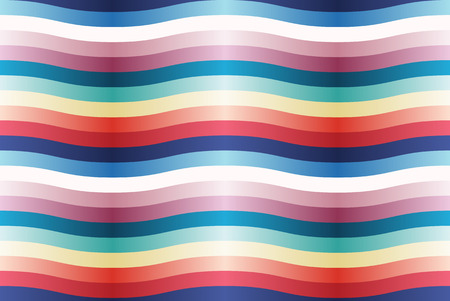 seamless pattern with color wavy strips.