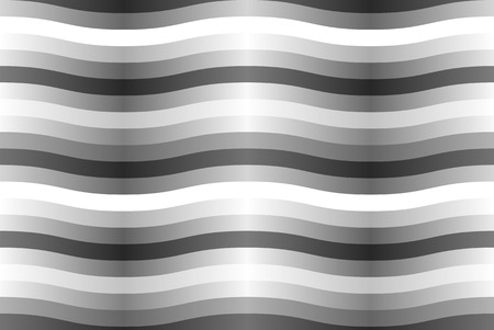 Vector seamless pattern with gray wavy strips.  向量圖像