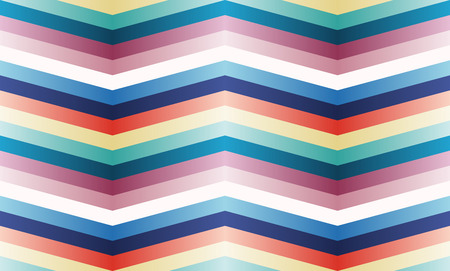 Vector seamless pattern with color zigzag strips.