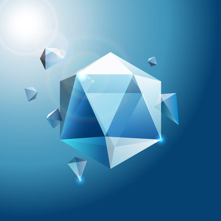 Abstract crystal . Vector Illustration