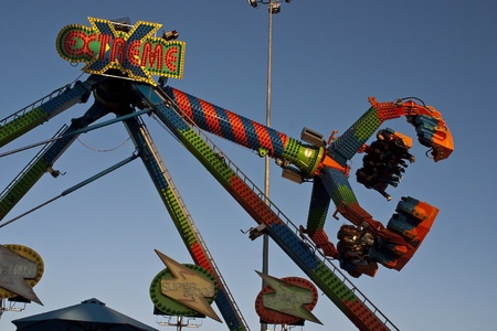 State Fair of Virginia 2011 Midway Attractions. Stock Photo - 11000562