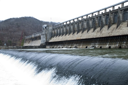 Bluestone Dam is a concrete gravity dam.