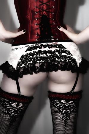 An alternative female displays her backside. Stock Photo