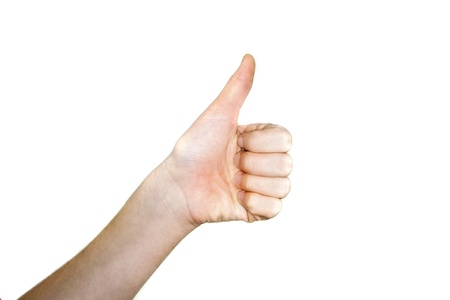 Thumbs up signal for all is well. Stock Photo - 17398703