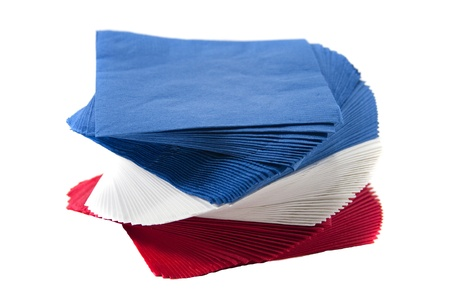 Colorful twisted party napkins. Stock Photo