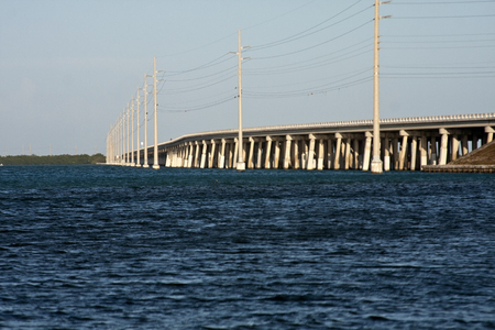 Bridge View from an inlet in the Florida Keys