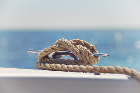 Nautical Knot on a Boat